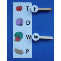 Fruits and Vegetables Letters of the alphabet activity and game