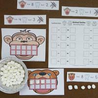 Animal teeth activities and games for preschool and kindergarten