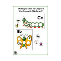 C for caterpillar and b for butterfly literacy activities for preschool