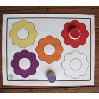 Color learning game and activity for preschool