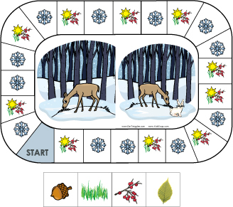 Feed the deer animals in winter game and activity for preschool and kindergarten