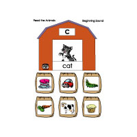Farm animals beginning sounds game and printables for kindergarten and preschool