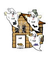 preschool and kindergarten ghost rhyming folder game