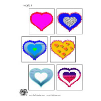 Mother's Day Hearts Matching Game for preschool