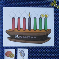 K for Kwanzaa and Kinara Beginning Sound Game