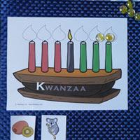 K for Kwanzaa and Kinara Beginning Sound Game