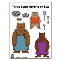 Goldilocks and the Three Bear folder game and printables for preschool
