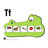 T for Tooth activities and game for preschool and kindergarten