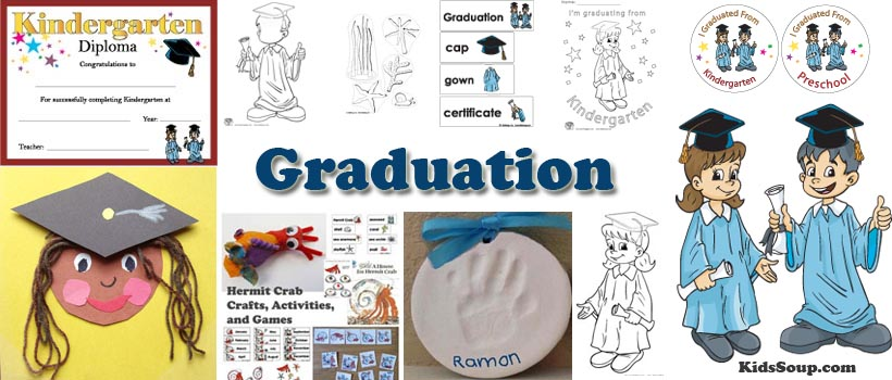 Preschool and kindergarten graduation and Hermit Crab activities and crafts