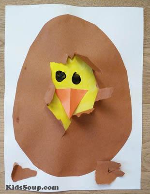 Chick hatching craftivity kidssoup for Rooster craft for kindergarten