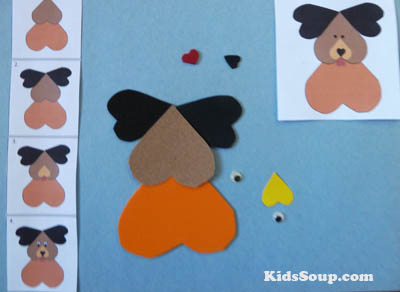 Build a heart animal matching game and sequencing activity