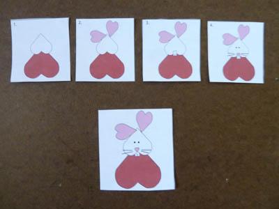 Heart rabbit craft and activity for preschool and kindergarten