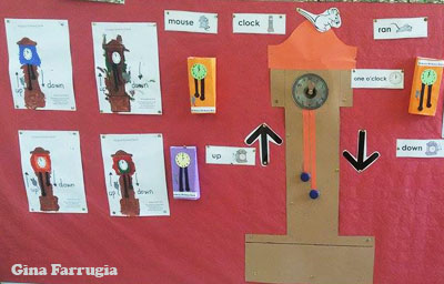 Hickory Dickory Dock Bulletin Board  Idea and Printables