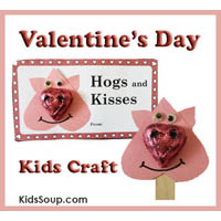 Valentine's Day craft and printables for kids