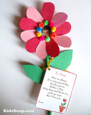 Mother's Day preschool craft and poem with printables