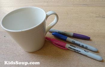 preschool tea cup craft idea