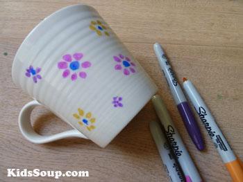 Succulents tea cup Mother's Day craft for preschool