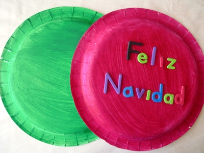 feliz navidad tambourine craft and fine motor skills kidssoup