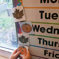 In the Preschool Classroom Calendar Activities and Lesson