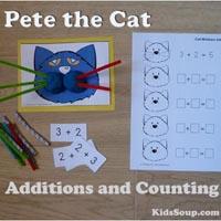 Preschool Kindergarten Pete the Cat Math Activities