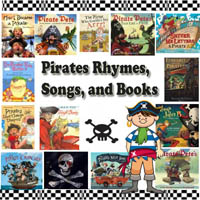 Pirates rhymes, songs, and books for preschool