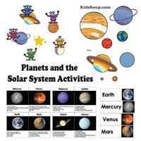 Preschool Kindergarten Space and Planets Activities and Crafts