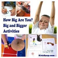 Preschool Kindergarten How Big Are You? Activities and Lesson