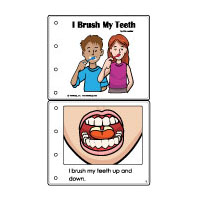 Brushing teeth emergent reader booklet and activities for preschool