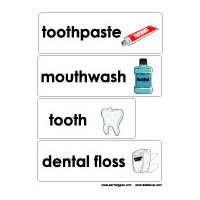 Dental health and teeth preschool and kindergarten word wall printable