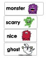 preschool and kindergarten monsters word wall printables