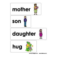 Mother's Day Folder Game and Printables for preschool