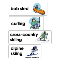 Winter and Summer Olympics Word Wall Cards