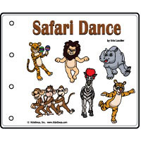 Safari dance preschool and kindergarten emergent reader printables