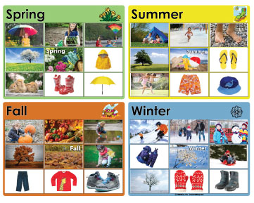 The Weather And The Four Seasons Books And Activities on Yellow In Preschool