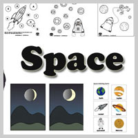 Preschool Kindergarten Space Activities and Crafts