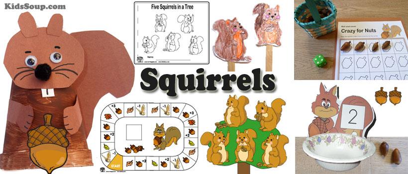 Acorn Math on Squirrels Squirrel Worksheets For Kindergarten