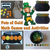 Pot of Gold Make Five Activity and Printables