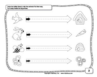 Left to right prewriting skills and tracing worksheet