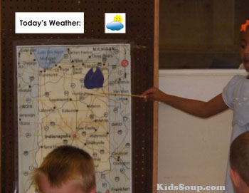 Preschool weather dramatic play center idea and activity