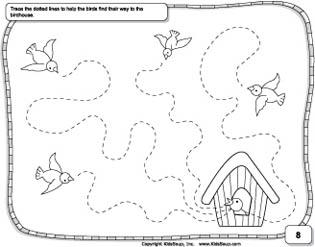 Wavy lines prewriting skills preschool worksheet