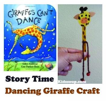 Animal Crafts on Dancing Giraffe Storytime Craft For Preschool And Kindergarten