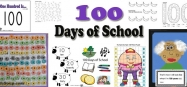 100 days of school activities, games, and printables for kindergarten and preschool