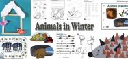 Animals in Winter preschool and kindergarten activities and crafts