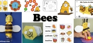 Bees Activities and Crafts for preschool and kindergarten
