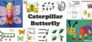 Butterfly and Caterpillar activities and games for preschool and kindergarten
