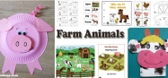 Farm animals preschool and kindergarten activities, crafts, and games