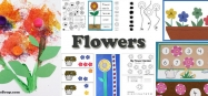 Flowers activities, crafts, lesson plans for preschool and kindergarten