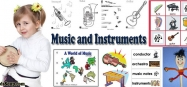 Music and Instruments Activities, Crafts, and Printables