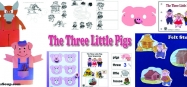 The Three Little Pigs Activities and Crafts for preschool kindergarten