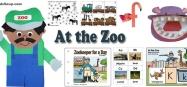 Zoo preschool and kindergarten activities, crafts, and games